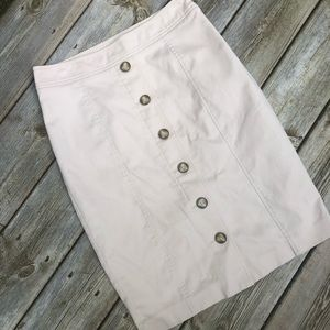 Tan pencil skirt Rafaella size 8